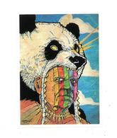 Adesivo Calcomania Sticker Indiano Panda  Dimensioni Cm 5,5x7,5 Circa Forma Rettangolare - Adesivi