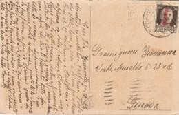 CARTOLINA 1944 RSI 30 CENT. CON SS TIMBRO GENOVA (LV410 - 4. 1944-45 Repubblica Sociale