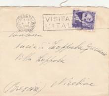 LETTERA 1937 C.50 MOSTRA COLONIE ESTIVE TIMBRO NIGOLINE-GENOVA-CLINICA MEDICA (LV422 - 1900-44 Vittorio Emanuele III