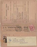 BOLLETTINO NOVITA' LIBRARIE 1928 C.10 TIMBRO IL DISPENSARIO (LV430 - Storia Postale