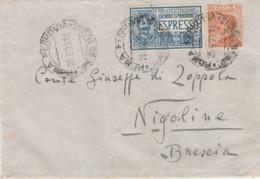 ESPRESSO 1927 L 1,25+60 C TIMBRO AMBULANTE ROMA MILANO  (LV435 - Marcofilía