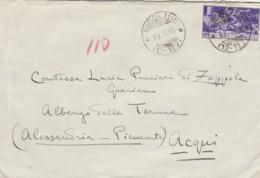 LETTERA 1930 50 C FERRUCCI TIMBRO NIGOLINE AQUI TERME ALESSANDRIA (LV480 - 1900-44 Victor Emmanuel III.