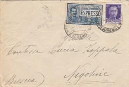ESPRESSO 1930 L.1,25+50 C. TIMBRO NIGOLINE BRESCIA-EDOLO (LV488 - 1900-44 Vittorio Emanuele III