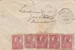 RACCOMANDATA 1920 5X1 ROMANIA -TIMBRO TRIESTE NIGOLINE (LV511 - 1918-1948 Ferdinand, Carol II. & Mihai I.