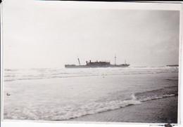 Foto Untergegangener Englischer Dampfer In Le Havre - Schiff Wrack - 2. WK -  8*5,5cm (40075) - Guerra, Militari