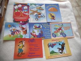 LOT DE 8 CARTES ...DISNEY ..DINGO ...DONALD... - Cartes Postales