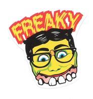 Adesivo Calcomania Sticker Freaky Viso Occhiali Dentoni Dimensioni Cm 7x7,5 Circa Forma Segue Silhouette Figura - Adesivi