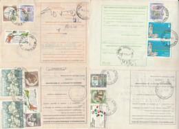 LOTTO 4 BOLLETTINI PACCHI POSTALI AFFRANCATURE ALTI VALORI (LV783 - Colis-postaux