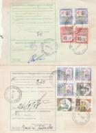LOTTO 2 BOLLETTINI PACCHI POSTALI AFFRANCATURE ALTI VALORI (LV784 - Colis-postaux