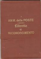 POSTE -LIBRETTO RICONOSCIMENTO 1918  (LV788 - Italia
