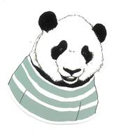 Adesivo Calcomania Sticker Panda Dimensioni Cm 7,5x6 Circa Forma Segue Silhouette Figura - Adesivi