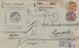 Deutsches Reich Paketkarte 1891 - Used Stamps