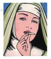 Adesivo Calcomania Sticker Suora Sigaretta Canna Dimensioni Cm 7,5x6 Circa Forma Rettangolare - Adesivi