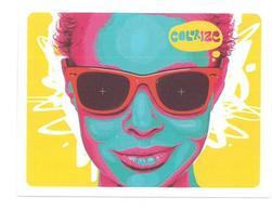 Adesivo Calcomania Sticker Colorize Donna Dimensioni Cm 7,5x5,5 Circa Forma Rettangolare - Adesivi