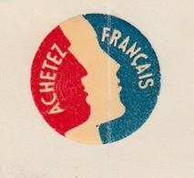 """Facture 1936 / Vignette Tricolore """"Achetez Français"""" / SOCOLEST /Constructions Mécaniques / 67 Strasbourg Meinau Neudorf - France"""