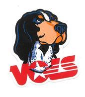 Adesivo Calcomania Sticker Cane Dog Voes Dimensioni Cm 6,5x6 Circa Forma Segue Silhouette Figura - Adesivi