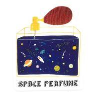 Adesivo Calcomania Sticker Profumo Dello Spazio Space Perfume Dimensioni Cm 5,5x7 Circa Forma Segue Silhouette Figura - Adesivi
