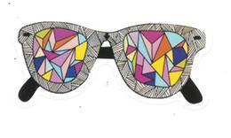 Adesivo Calcomania Sticker Occhiali Dimensioni Cm 3,5x8 Circa Forma Segue Silhouette Figura - Adesivi