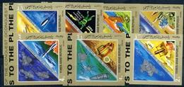 Yemen, Past & Future, 1969, 7 Stamps Imperforated - Ruimtevaart