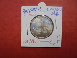 ARGENTINE 1000 PESOS 1977 ARGENT SUPERBE/FDC ! - Argentine