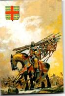 """Dessin Original Pierre JOUBERT **MONTMORENCY Après La Bataille De Bouvines (An 1214)** Extrait """"Les Lys & Les Lions"""" TBE - Histoire"""