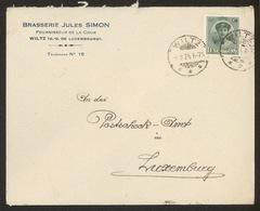 NEW - WILTZ Luxemburg Luxembourg BRASSERIE BRAUEREI 1924 Enveloppe  Comme DIEKIRCH - Wiltz