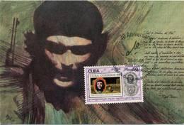 Lote PEP1318, Cuba, Postal, Postcard, Che Guevara, Cancelacion 30 Aniversario De Ciencias Medicas, 1 - Cuba