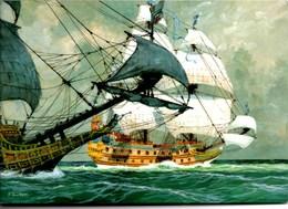 """** La Couronne  Extrait De """"Marine"""" De Pierre JOUBERT Dessin Original ** Carte NEUVE - Bateaux"""