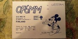CPM - Mickey Mouse - Finland - Disney - Old QSL Postcard - Non Classés