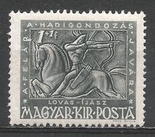 Hungary 1943. Scott #B157 (M) Archer On Horseback * - Hongrie