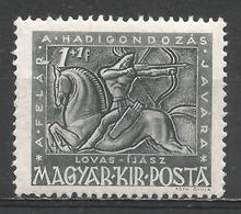 Hungary 1943. Scott #B157 (M) Archer On Horseback * - Neufs
