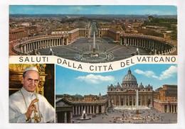 SALUTI DALLA CITTA DEL VATICANO, Pope Paul VI, 1967 Used Postcard [23030] - Vatican