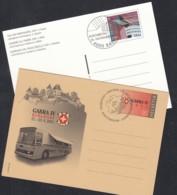 SCHWEIZ  P 285-286, Gestempelt, GABRA IV + Tag Der Briefmarke, 2001 - Entiers Postaux