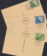 SCHWEIZ  P 250-252, Gestempelt, Katze, Bergsee, 1991/95 - Enteros Postales