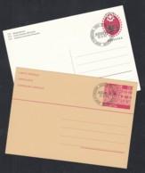 SCHWEIZ  P 243 I-244, Gestempelt, Fassadenmalerei, GABRIA II, 1984-1985 - Enteros Postales