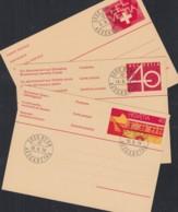 SCHWEIZ  P 237-239, Gestempelt, Postauto, Wertziffer, Helvetia, 1976-1980 - Enteros Postales
