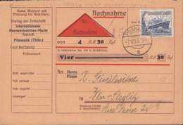 DR  658, Auf Nachnahme_Schein, Gestempelt: Pößneck 7.12.1937 - Allemagne