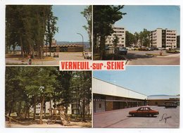 VERNEUIL  SUR SEINE--Multivues  (nouvelle Gare,cité,immeuble Les Clairières,Centre Des Rosiers )--voitures-- - Verneuil Sur Seine