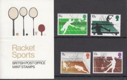 GROSSBRITANNIEN 727-730, Postfrisch **, Auf Präsentationskarte, 100 Jahre Tennismeisterschaften Zu Wimbledon 1977 - Tennis