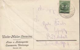 INFLA DR 310 A EF, Geprüft, Auf PK-Ds. Der Fa. Walter Müller Eisenwaren, Hausgeräte, Mit Stempel: Oberweimar 23.10.1923 - Infla