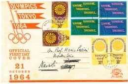 KENYA - UGANDA E TANGANICA - FDC - Y.  1964 Olympic Games - Tokyo, Japan  21. Ottobre - Kenia (1963-...)