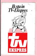 Sticker - Suske En Wiske - Ik Sta In TV Ekspres - Lambic - Autocollants