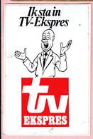 Sticker - Suske En Wiske - Ik Sta In TV Ekspres - Professor Barabas - Autocollants