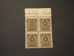 ITALIA - LUOGOTENENZA - R.A. 1945 STEMMA 40 Su 10, Un Quattro Incompleto - NUOVO(++) - 5. 1944-46 Lieutenance & Umberto II