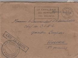 "LAC 1959 - Cachet Et Griffe "" CAMP DU LARZAC "" - Cachet Et Flamme - LA CAVALERIE Ses Remparts Ses Dolmens - Military Postmarks From 1900 (out Of Wars Periods)"