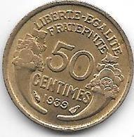 France 50 Centimes  1939  Km  894.1   Xf+ - France
