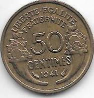 France 50 Centimes  1941  Km  894.1   Unc - France