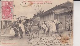 AFRIQUE OCCIDENTALE AOF - Sénégal - THIES : UNE RUE TRES ANIMEE - Senegal