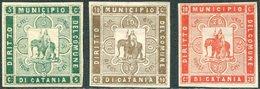 ELEPHANT Italy 1895 Sicily CATANIA Local Municipal Revenue Fiscal Tax Italia Sicilia Italien Gebührenmarke ELEFANT - Eléphants