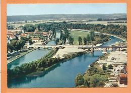 CPSM Grand Format -  Charmes -(88.Vosges ) - Vue Aérienne - Grand Pont Sur Le Canal Et La Moselle -Au Centre Le Camping - Charmes